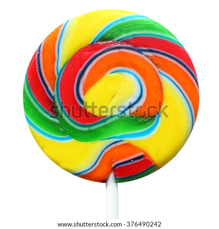 Multi-colored caramel candy - stock photo