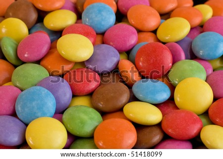 multi colored halloween chocolate candy - stock photo