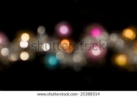 multi colored light spots background - stock photo