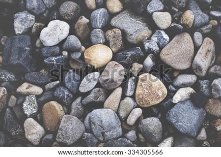 Multi Colored Pebbles rocks Backgrounds Concept - stock photo