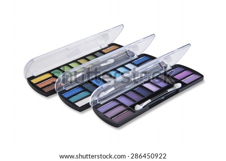 Multi colored shades for colorful eye shadows - stock photo