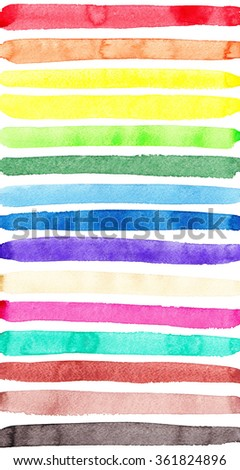 Multi-colored strips