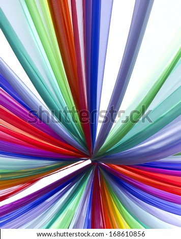 Multi-colored tie to tie into the concept of creating a beautiful rainbow. - stock photo