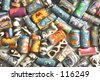 multi-coloured beads
