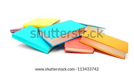 Multi - coloured books. School . - stock photo