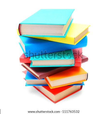 Multi-coloured books . The School .