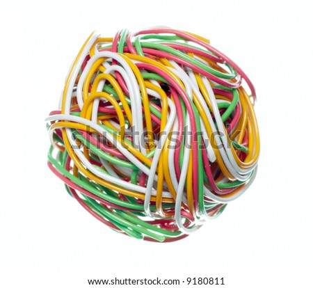 Multi-coloured telephone or telecommunication cable
