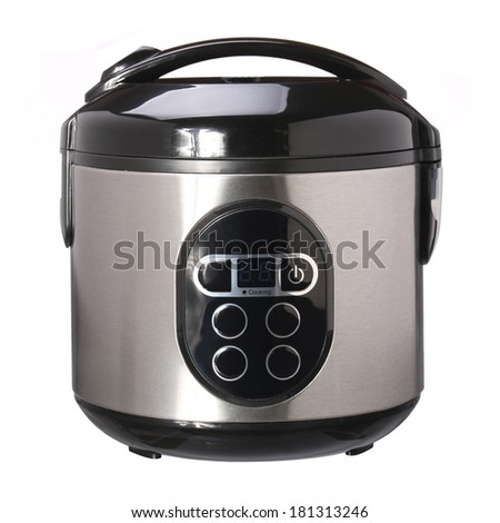 Multi Cooker isolated on white background - stock photo