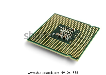 multi-core processor on a white background pad up