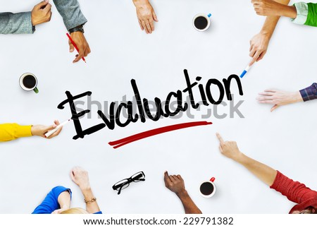 Multi-Ethnic Group of People and Evaluation Concept - stock photo