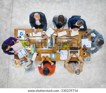 Multi-Ethnic Group of People Working Together - stock photo