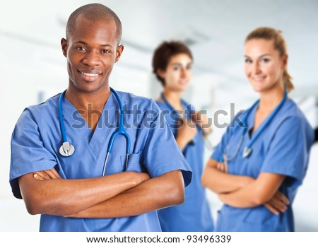 Multi ethnic medical team