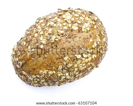 multi - grain bread isolated on white background - stock photo