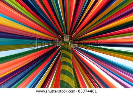 Multi vivid color fabric - stock photo