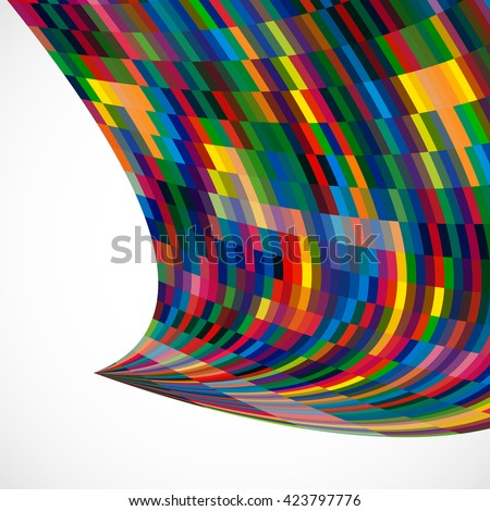 Multicolor abstract  background with bright elements for design. - stock photo