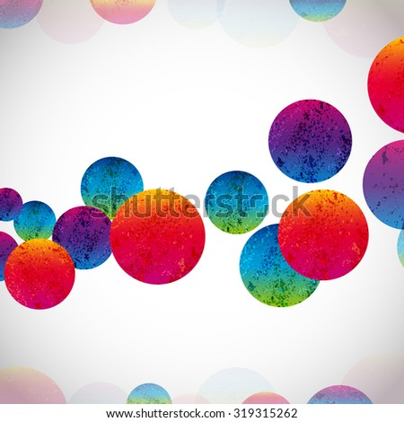 Multicolor abstract bright background. Circles elements for design.  - stock photo