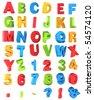Multicolor Alphabet - stock photo
