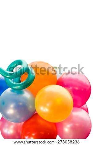 multicolor balloons background - stock photo