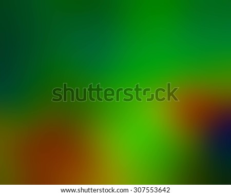 Multicolor blur abstraction with the main green color. Blurred background, pattern, wallpaper, smooth gradient texture color. Raster abstract design for your business.
