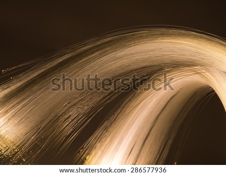 multicolor fiber optics - stock photo