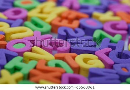 Multicolor letters - stock photo