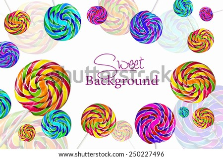 Multicolor lolipops as a background - stock photo
