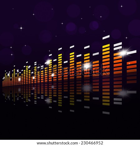 multicolor music equlizer background for active parties