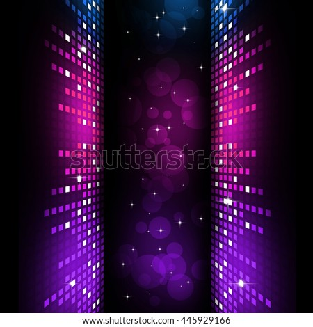 multicolor music equlizer background for nightclub parties - stock photo