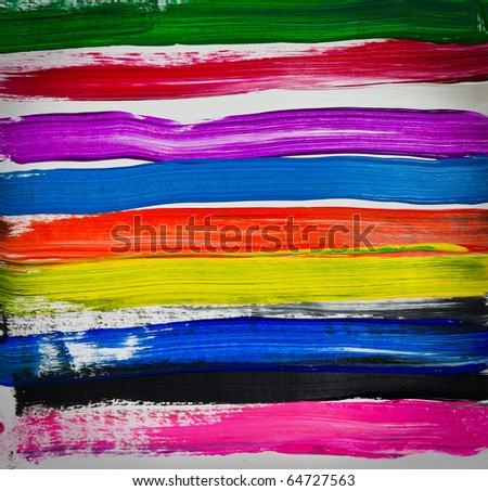 Multicolor of watercolor  hand painted on paper - stock photo