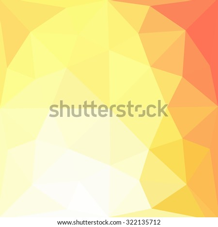 Multicolor orange, yellow gradient geometric pattern. Triangles background. Polygonal raster abstract for your design. Cool background image for websites.