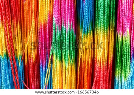 multicolor rope - stock photo