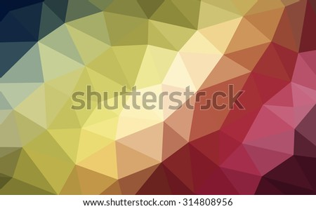 Multicolor spectrum abstract geometric rumpled triangular low poly style illustration graphic background. Raster polygonal design for your business. Rainbow.