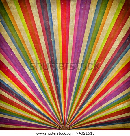 Multicolor Sunbeams grudge background - stock photo