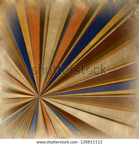 Multicolor Sunbeams grunge background/ A vintage poster - stock photo