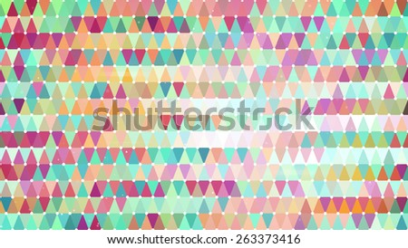 multicolor triangles. computer generated abstract geometric background - stock photo
