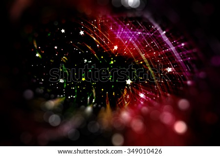 Multicolored abstract background holidays lights in motion blur image