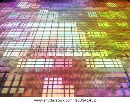 Multicolored abstract matrix background.Digitally generated image. - stock photo