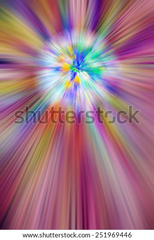 Multicolored abstract of cosmic creation, for themes of explosion, origin, universality and the unknown - stock photo