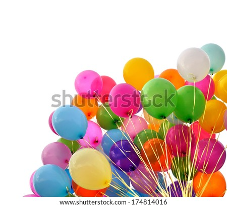 multicolored balloons isolated on white#3 - stock photo