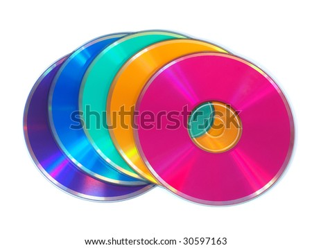 Multicolored CD, DVD disks