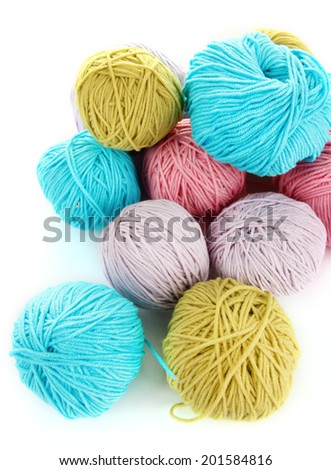 Multicolored clews closeup - stock photo