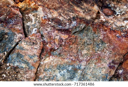 Multicolored cracked stone texture