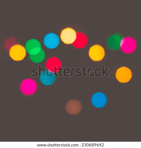 Multicolored defocused bokeh lights at Night for  background or texture : filtered process