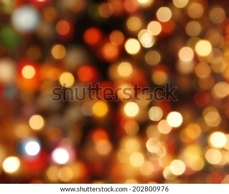 Multicolored defocused bokeh lights background - stock photo