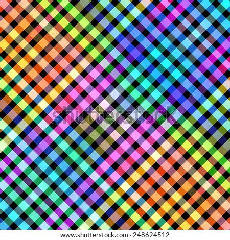Multicolored diagoanal blocks pattern illustration. - stock photo