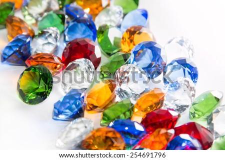 Multicolored Diamonds  - stock photo