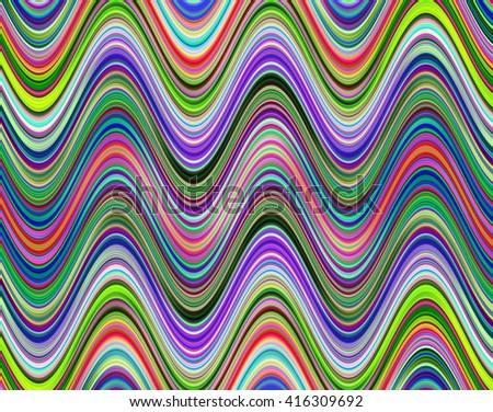 Multicolored digital waves pattern illustration.