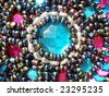 multicolored embellishment - stock photo
