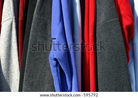 Multicolored Fall Clothing - stock photo