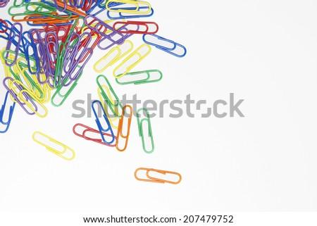 Multicolored Paper Clips - stock photo